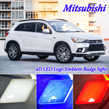 4D холодный свет светодиодный эмблемы логотипа света для Mitsubishi 09 Galant Pajero Sport Outlander ASX кроссовер Galant Lancern L200 montero