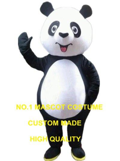 Mignon panda mascotte costume panda ours personnalisé dessin animé personnage cosplay adulte taille carnaval costume 3283