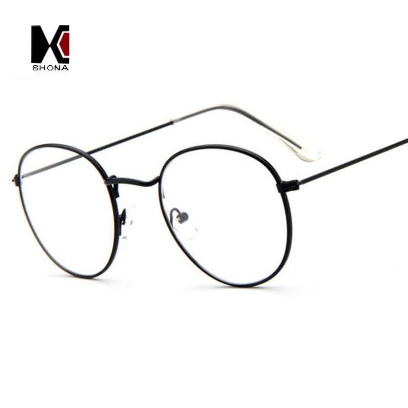 Retro Clear Eyeglasses Brand Designer Round Frame For Women Fashion Men Glasses Optical Frames