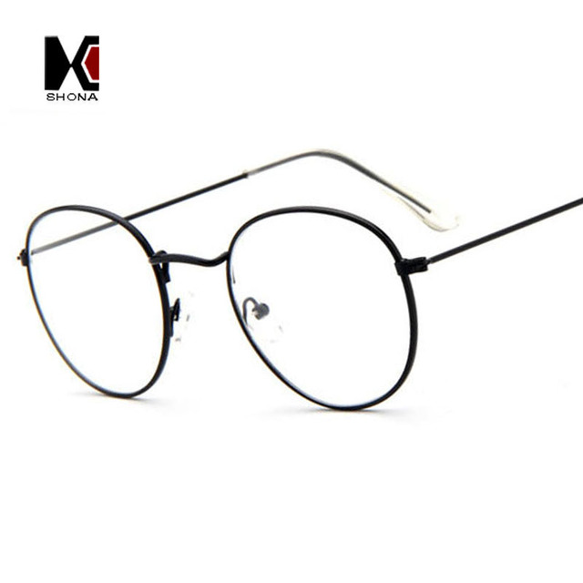 SHAUNA Super Light Retro Clear Eyeglasses Brand Designer Round Frame ...