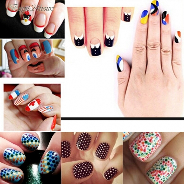 Fashion Women Manicure Tools 12 Colors Nail Art Pen Painting Design Drawing For Uv Gel