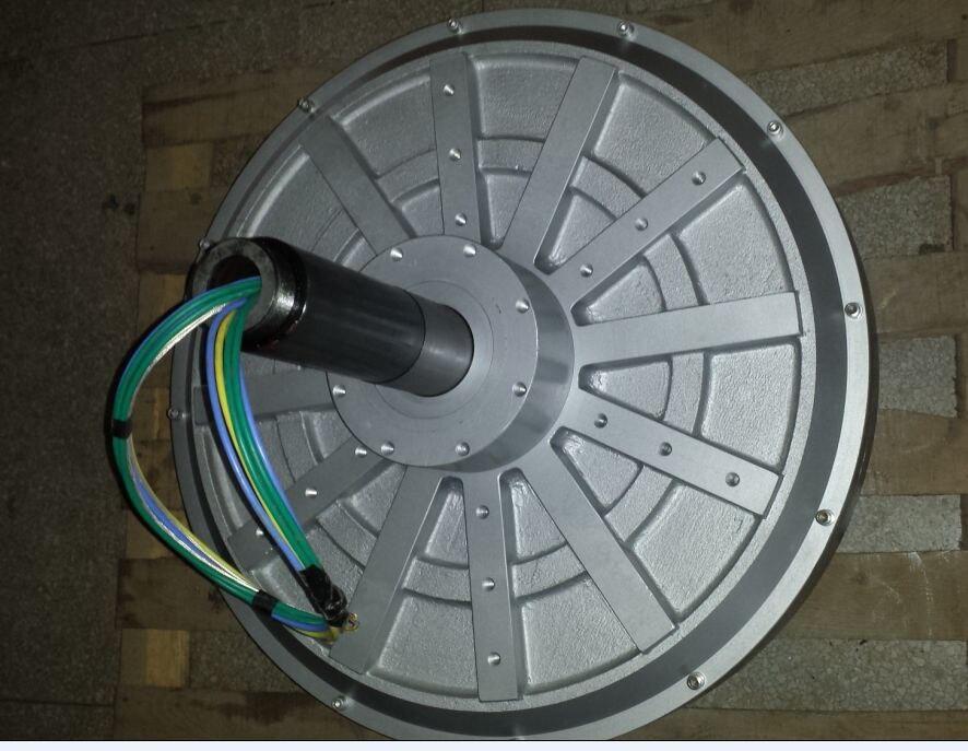 3000W/3KW 100 180 260RPM 96 220 380VDC vertical wind turbine permanent magnet alternator coreless household DIY generator