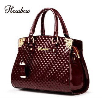 Для женщин натуральная Лакированная кожа Сумки Роскошные плечо сумка через плечо Сумочка дизайнер кошелек сумка женская сумка мешок