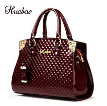2020 Women Genuine Patent Leather Handbags luxury Shoulder Handbag Ladies Tote bag