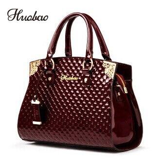 Femmes véritable cuir verni sacs à main de luxe épaule sac à bandoulière sac à main Designer sac à main sacoche Messenger sac dames fourre-tout