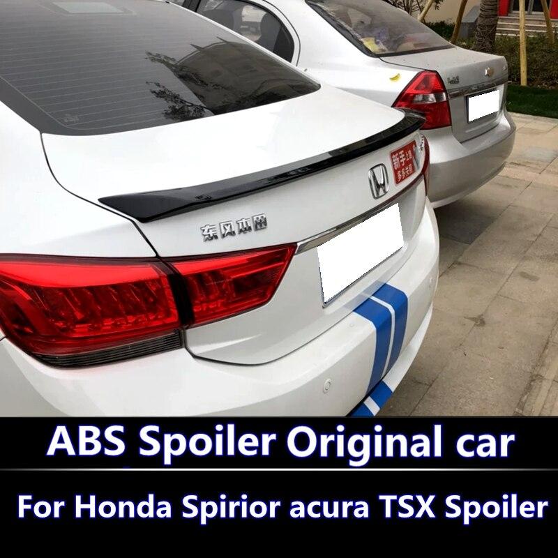 Pour 2015-2017 Honda Spirior acura TSX becquet ABS matériel voiture aile arrière apprêt couleur aileron arrière coller le becquet installé