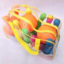 Детский Пластиковый Набор для боулинга, эмульсионная Спортивная игрушка с маленькой сумочкой, посылка-цветная