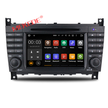 2GRAM Android 7.1 Car dvd player multimedia radio for Mercedes/Benz W203 C200 C230 C240 C320 C350 CLK with GPS navigation 4G BT