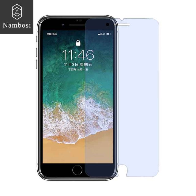Nambosi Anti blue ray tempered glass for iphone 6 7 6s plus 7 plus screen protector on iphone 7 6 6s plus 7 plus protective film