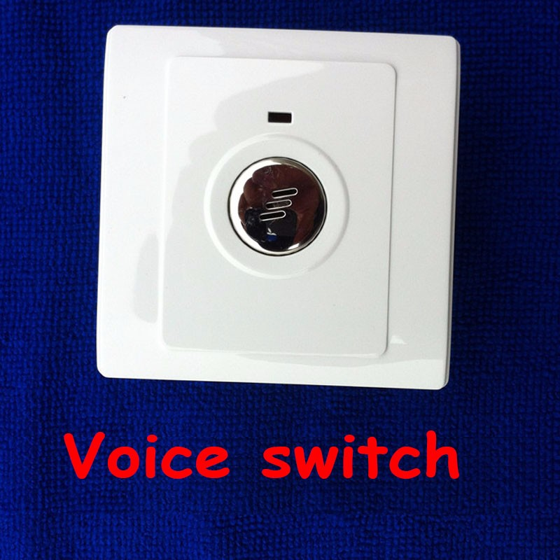 Voice switch lamp corridor delay sensor energy saving lamp 86 led sound and light control switch intelligent switch panel 1pc (10)