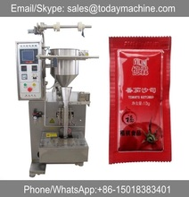 Food sachet honey tomato paste salad sauce stick pouch packing machine