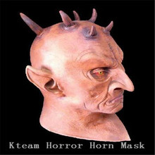 Top Grade 100% Latex Six Horned Mask Scary Monster Mask Halloween All Party Mask Fancy Dress Toys Gifts Free Shipping