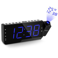 Digital FM Radio Alarm Clock Projector Clock LED Time Projection Display Relogio Parede Timer Temperature Table Desk Clock