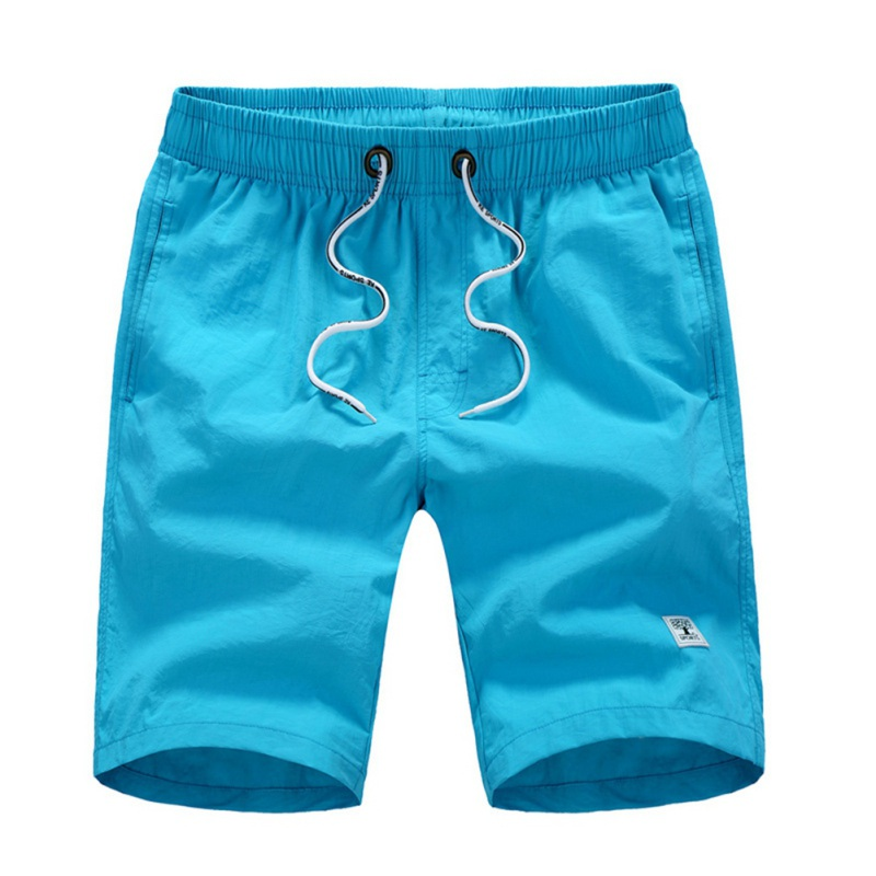 5XL Plus Size Summer   Board     Shorts   Men Drawstring Elastic Waist Male Beach   Shorts   5 Colors Solid   Shorts   Quick-drying