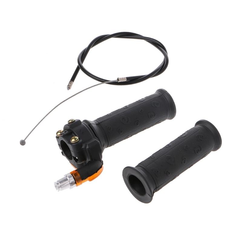 Twist Throttle Accelerator Grip + Cable For 47cc 49cc Mini Dirt Bike Quad Pocket