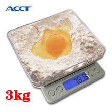 3 кг * 0,1 г цифровые карманные кухонные высокоточные весы Электронный вес еда диетический чай весы портативный инструмент с 2 лотками