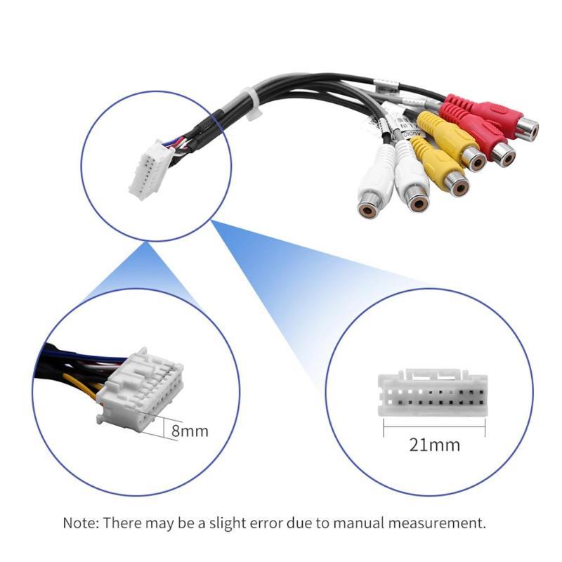 Vodool 20pin Plug To 6x3 5mm Rca Female Car Audio Stereo