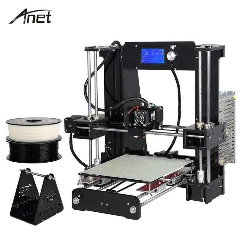 Anet A6 Desktop 3D Printer Kit Big Size High Precision Reprap Prusa i3 DIY 3D Printer Aluminum Hotbed Gift Filament 16G SD Card anet a6 3d desktop printer kit