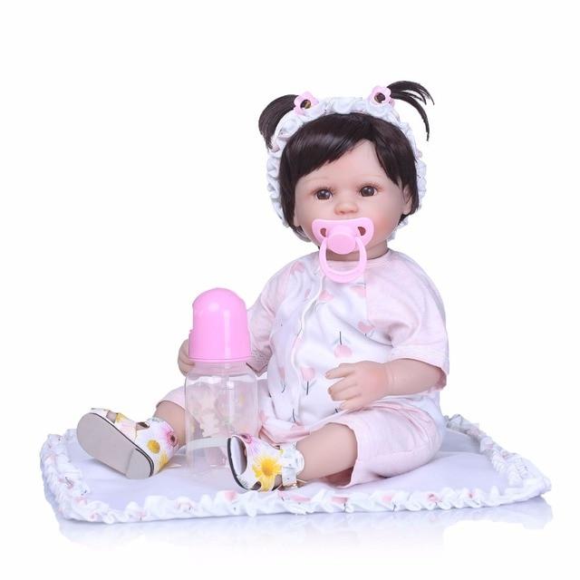 Handmade Silicone Vinyl Adorable Lifelike Toddler Baby Girl Doll 2