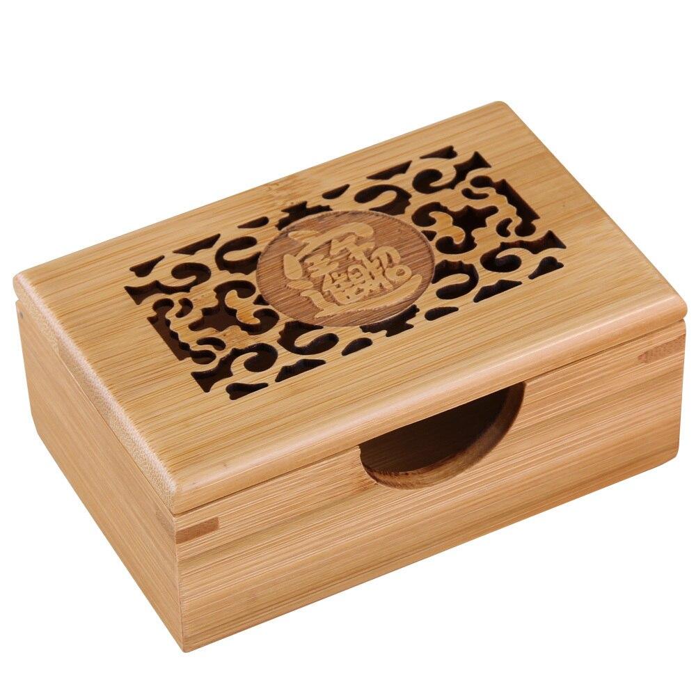 Us 6 5 35 Off Visitenkarte Halter Fall Bambus Holz Handarbeit Freies Verschiffen Desktop Typ Persönlichkeit Karte Halter Schreibwaren Kreative