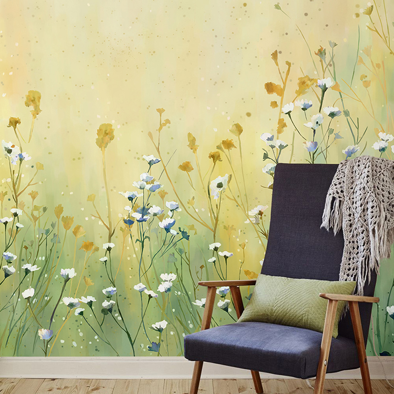 Free Shipping Hand painted floral wallpaper living room bedroom sofa TV backdrop wallpaper custom large mural free shipping marshall dimensions art wallpaper nonwoven large mural bedroom living room tv backdrop custom size