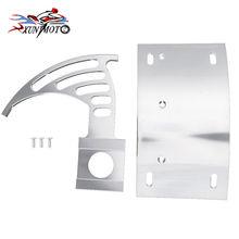 Motorcycle Parts Chrome Swingarm Side Mount Curve License Plate Bracket for Suzuki GSXR 600 750