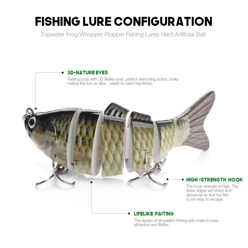 Fishing Multi Jointed Lure Swimbait Bass Bait Life Like Pike Minnow 10cm 19,3g