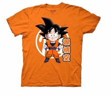 Dragon Ball Z Goku Chibi With Kanji Licensed Adult T Shirt Free shipping