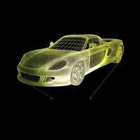 3D Vision Night Light Sports Car Image Touchment Control Color 3D Night Lamp Desk Light