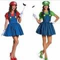 Хэллоуин Супер Марио Костюм Disfraces Adultos Карнавальный Костюм Взрослых Женщин Аниме Косплей Super Mario Bros. костюм