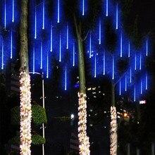 Многоцветные 30 см метеоритный дождь трубы AC100-240V светодио дный светодиодные Рождественские огни Свадебная вечеринка сад Xmas струнный свет открытый