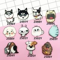 Min Order $5(Mix Order) 1PC New Cartoon Shirt Cute Decoration Costumes Badge Pins Harajuku Acrylic Animal Dog Letter XZ147