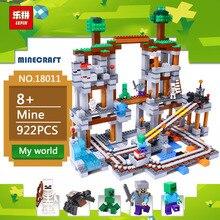 Lepin 18011 922 Pcs A Mina Meu mundo Figura 21118 Crianças Blocos de Construção Educacional Tijolos Brinquedos Para As Crianças Presentes de aniversário