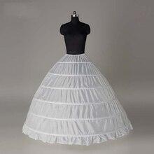 Enagua blanca de gasa para casamiento, falda de crinolina, accesorios de boda, Jupon, Mariage, 6 aros, alta calidad