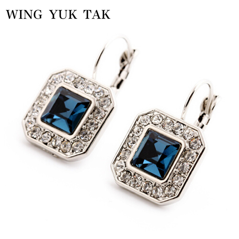 2018 Hot Sale Classic Brincos Pendientes Mujer Nye Geometriske Crystal Drop øredobber For Women smykker Elegant Bijoux Wholesale
