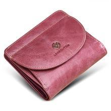 2019 новый кошелек женский короткий кожаный маленький тонкий Простой яловой женский кошелек для монет карта кошелек кошельки деньги держатель для девочек леди клатч