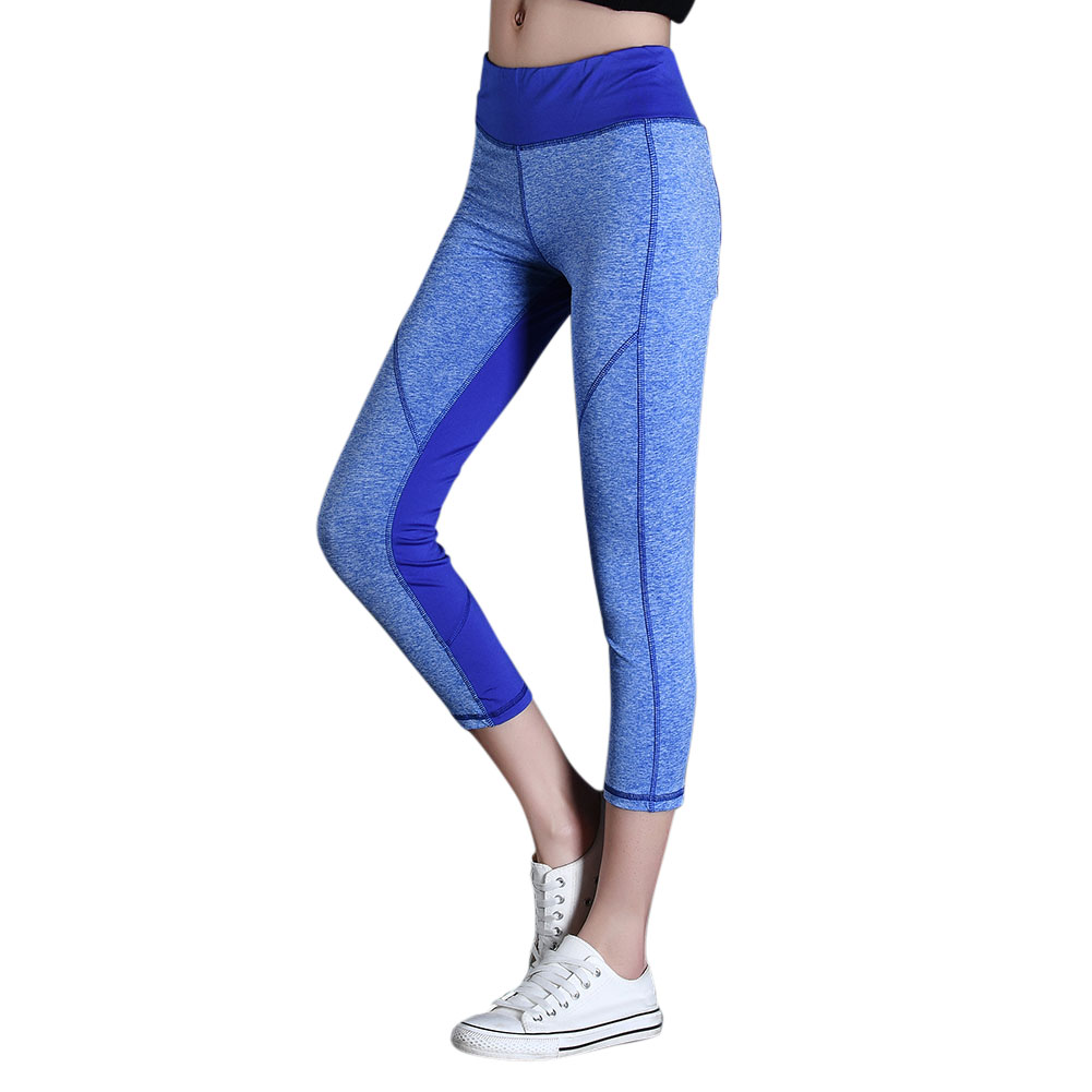 Ladies Breathable Quick-Drying Elastic Sport Gym Leggings Women Outdoor Sports Reflective Night Run Tight Yoga Pants B2Cshop