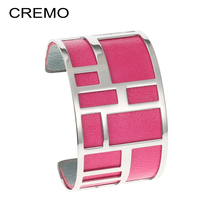 Cremo Labyrinth Stainless Steel Bracelet Women Statement Arm Cuff Bangle Bijoux Femme Manchette Argent Jewelry Pulseras