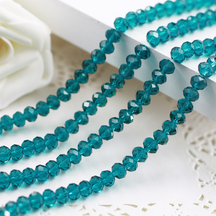 5040 AAA+ Blue Zircon Loose Crystal Glass Rondelle beads DIY Jewelry Accessories.2mm 3mm 4mm,6mm,8mm 10mm,12mm Free Shipping!