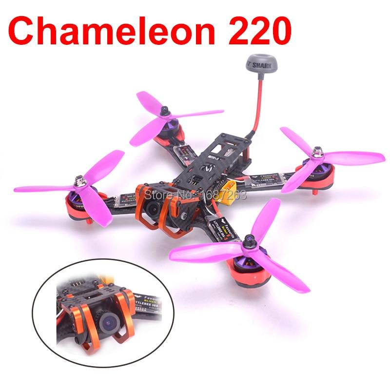 Chameleon 220 220mm Frame Quadcopter Naze32 F3 2205 Motor Littlebee 30A BLHeli s ESC Fatshark antenna