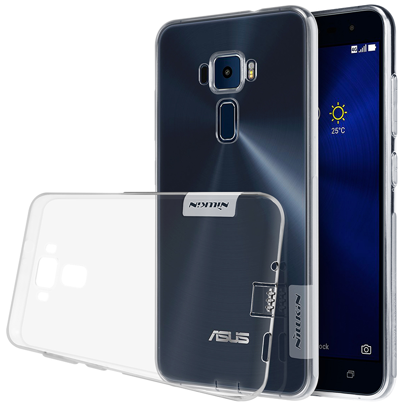 official photos 9acc8 f97e7 US $4.99  Case For Asus Zenfone 3 ZE552KL Cover For Asus Zenfone 3 ZE520KL  NILLKIN Nature TPU Transparent Clear Case Soft Back Cove Case-in Fitted ...