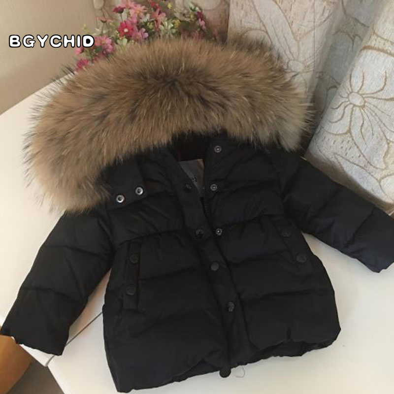 2017 Winter Down Jacket Baby Girls boys coats 90% Fur Down Jackets Children's Clothing for New Year kids Outerwear Coats 2017 winter boys down jackets parkas for girls hooded real fur coats teenager jacket 90% duck down snowsuit kids clothing