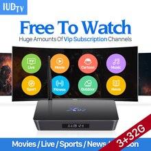 Dalletektv 4 K Caja de TV Movie IUDTV Suscripción 3G 32G X92 S912 Android 6.0 Caja de la TV Núcleo Octa 5G Wifi REINO UNIDO Europa Caja del IPTV Árabe
