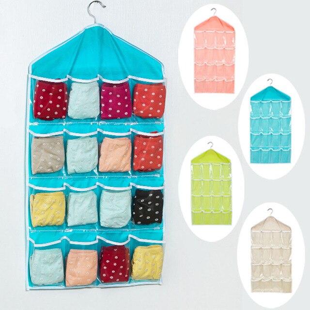 16 Taschen Faltbare Kleiderschrank Hängen Taschen Socken Slips ...