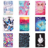 Dreaming Paint PU Leather Stand Case Cover For Samsung Galaxy Tab E T560 T561 Tablet Case