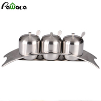 Stainless Steel Herb Spice Jars Set Cans for Spices Salt Sugar Bowl Seasoning Box Spices Rack Storage Container Kitchen Tools