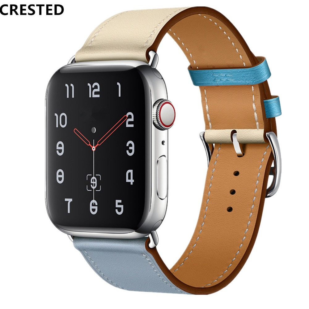 56f8c3b73b Single Tour For Apple watch band strap 42mm 38mm iWatch 4 band 44mm 40mm  Leather watchband bracelet Apple watch 4 3 21 hermes
