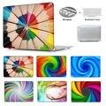 Красочные Краски Кристалл Прозрачная Крышка Для Apple Macbook Pro Retina 13 15 Жесткий Кейс Для Ноутбука Для Macbook Air11 13 Mac Новый 12 дюймовый