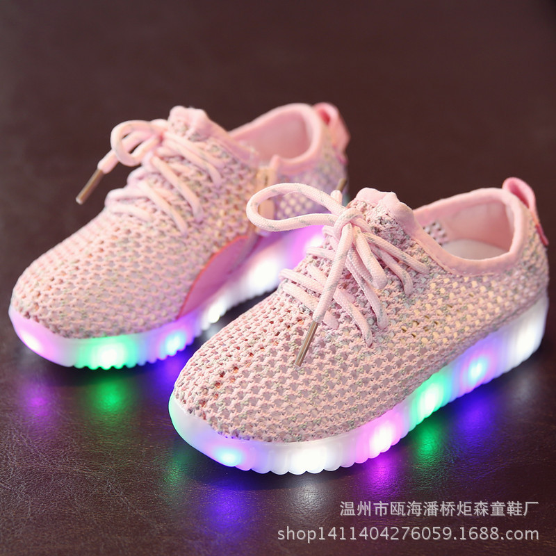 Children's LED Lamp Light Shoes Boys Girls Luminous Sneakers Brand New Kids Casual Shoes Spring Summer Size 22-35 joyyou brand boys girls glowing usb children luminous sneakers with light up led school footwear illuminated teenage kids shoes