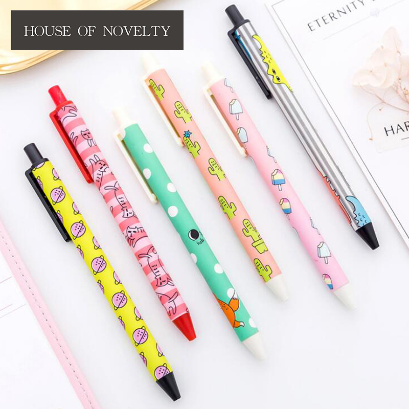 0 5 Mm Fresh New Cartoon Press Gel Pen Promotional Gift Stationery School &  Office Supply